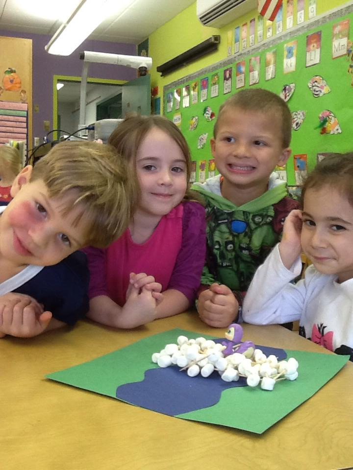PreK students at OLBS school