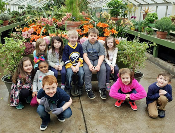 Students visit the Erie County Botannical gardens as part of Stream